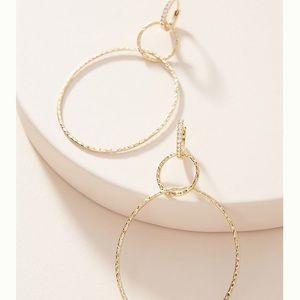Anthro Elina Hoop Earrings